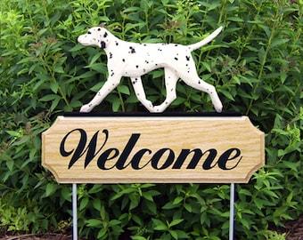 Dalmatian Welcome Garden Stake