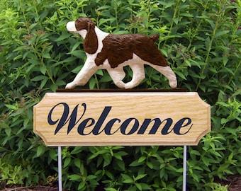 English Springer Spaniel Welcome Garden Stake