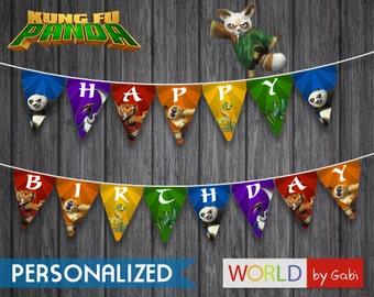 Digital Kung Fu Panda Banner | Kung-Fu Panda | Kung Fu Party Banner | Kung Fu Panda  Birthday | Kung Fu Panda Party Ideas