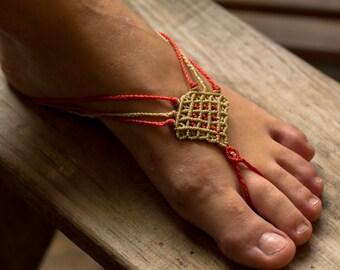 macrame anklet bracelet