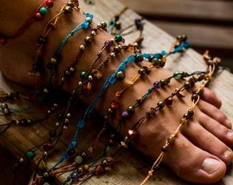 macrame ankle bracelet