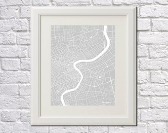Shanghai Street Map Print China City Street Map Poster Minimalist Home Decor Wall Art 7039P