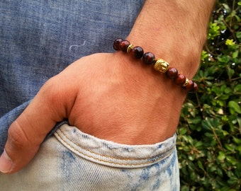 Men's Bracelet,Men's Tiger Eye Bracelet,Yoga Bracelet,Men's yoga Jewelry,Buddha Bracelet,Men's Beaded Bracelet,Beaded Bracelet,Yoga jewelry