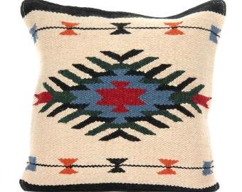 Native American Geometric Accent Pillow