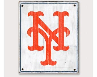 New York Mets - Distressed Rustic Wood sign - NY Mets fan gift - Man cave Boys room Sports Bar decor Fathers Day gift for Dad