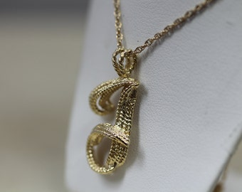 "Custom Vintage 14K yellow Gold ""J"" Necklace 50% Off"