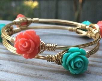 Dainty Rose Bangles