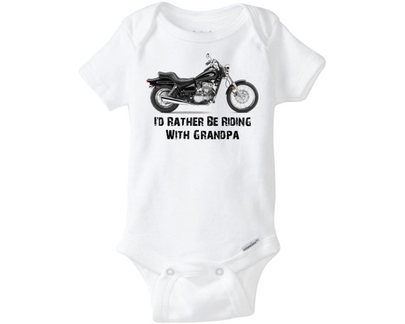 Grandpa Baby Outfit Grandpa Baby Bodysuit Grandpa Baby: I'd Rather Be Riding With Grandpa Onesie ® By PuddleKickers