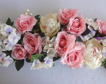 "50"" Pink Peony/Rose/Hydrangea Swag"