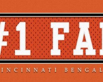 Cincinnati Bengals-Free Shipping-#1 DAD or #1 FAN Jersey Stitch Framed Print-NFL
