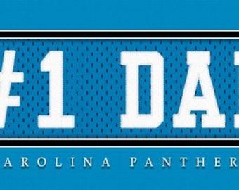 Carolina Panthers-Free Shipping-#1 DAD  Jersey Stitch Framed Print-NFL