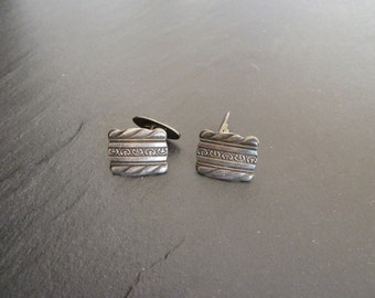 Real 60s 70s years cufflinks, vintage, made of metal; time-typical design pattern