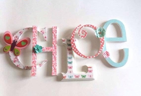 Personalized Wooden Letters / Custom Wood Letters NUrsery