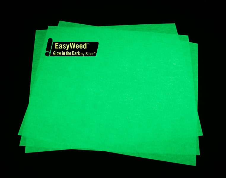 Siser Easyweed Glow In The Dark Htv 12x15 Sheet Heat