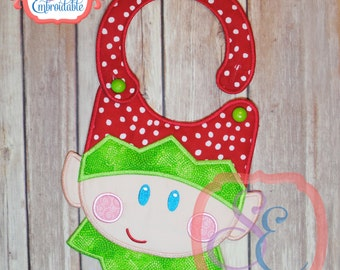 ELF FACE Bib - In The Hoop Design For Machine Embroidery