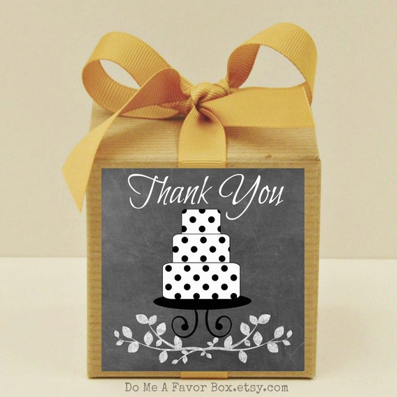 Baby Shower Thank You Gift Boxes : Items similar to thank you party favors favor box kit