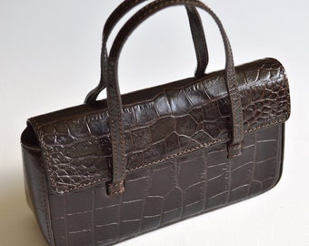 OF the river real crocodile leather wallet Brown