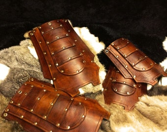 Leather armour larp tassets (Norgir Design)