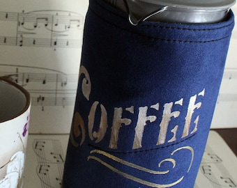 Coffee pot cosy. Coffee plunger cosy. French press cosy. Washable hand painted cosy. Made in Australia.