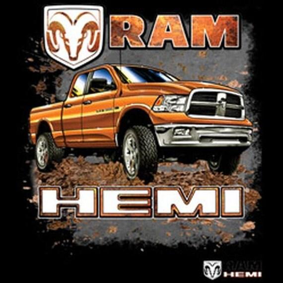 Hemi Dodge Truck: Vintage Dodge Ram Hemi Truck Adult Unisex T Shirt 20423HD1