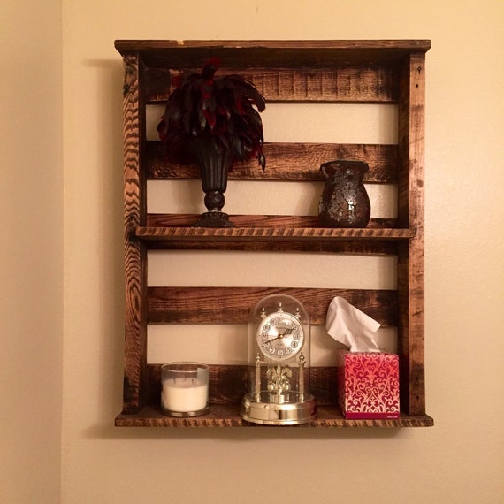 Luxury Rustic Reclaimed Wood 3Tier Bathroom Shelf With Towel By KeoDecor