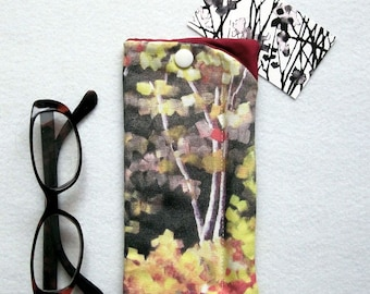 Soft Padded Case for Eye Glasses/Reading Glasses - featuring a Grisé Painting!