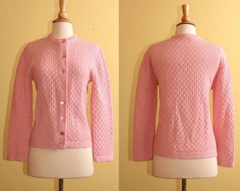 Vintage Cuddle Knit Wintuk Acrylic Pink Sweater, size 4, 6