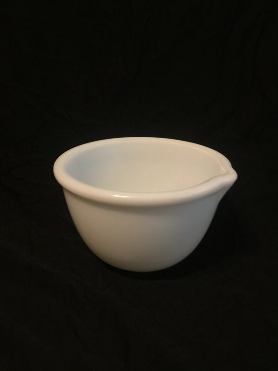 Electric Mixing Bowl ~ Vintage white milk glass mixing bowl inch for electric