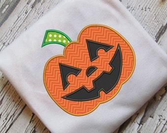 Halloween Jack O lantern Pumpkin Applique Embroidery Design Instant Download Design - 0154