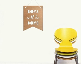 Kids Bamboo Buntings - Boys Will Be Boys