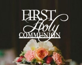 Personalised Cake Topper - First Holy Communion