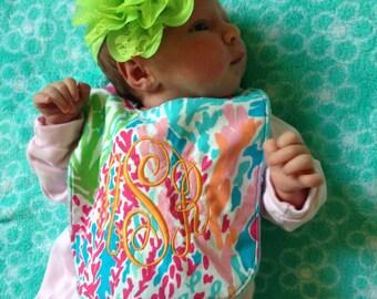 Personalized Lilly Pulitzer Infant Bib