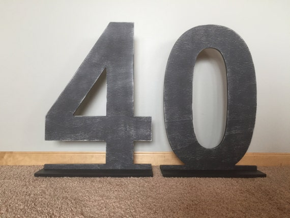 30 Large Number 40 With A Stand Stand Alone Cut Out