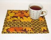 Leaves & Acorn Mug Rug