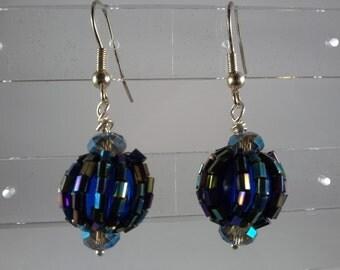 blue iris beads