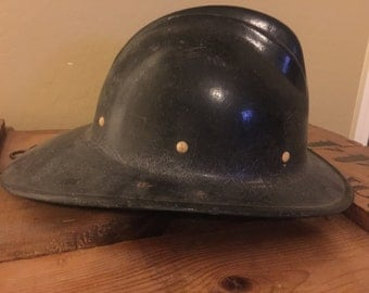Vintage E.D. Bullard Hard Boiled Firemans Hat Fire Fighters Collectible