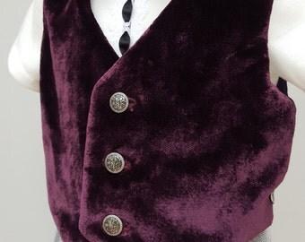 Baby Waistcoat, Boys Velvet Waistcoat, Boys Wedding Waistcoat, Special Occasions Waistcoat, Boys Formal Wear, 9-12 months. by JQDresses