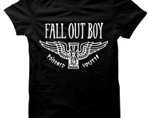Fall Out Boy Poisoned Youth Hourglass T-Shirt 100% Cotton Tee Sz. S-M-L-XL Black C@@L New L@@K FOB Rock Concert Tour