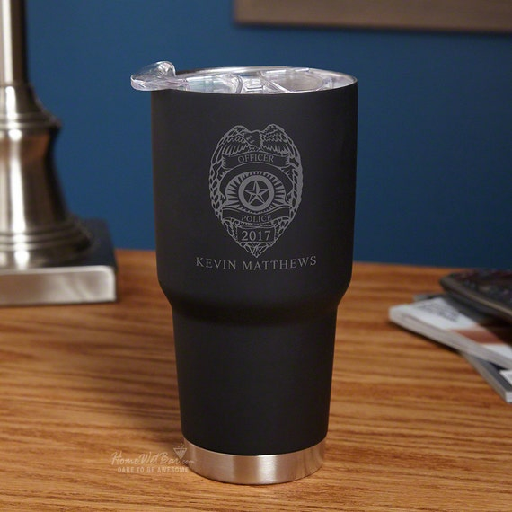 Police Badge Custom Insulated Travel Mug Police Officer