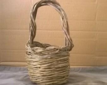 Small wicker basket, handmade