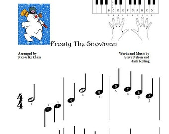 Frosty the Snowman - Beginner Piano Sheet Music