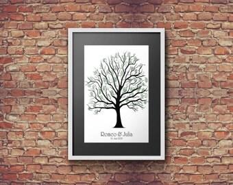 Fingerprint-Guestbook Tree Classic