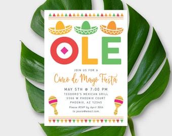 Cinco De Mayo Invitation - Mexican Fiesta Invitation