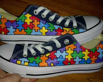 Autism Awareness Painted Sneakers