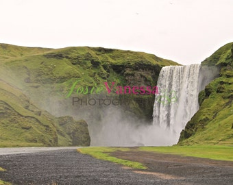 Skógafoss Waterfall Iceland Wall Art Print Landscape Photography