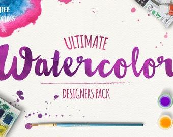 Watercolor Ultimate Designer KIT