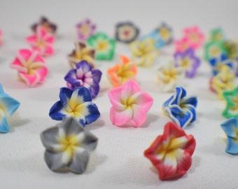 10 polymer clay flower beads | polymer flower beads | colorful flower beads | colorful beads | clay beads | PC658