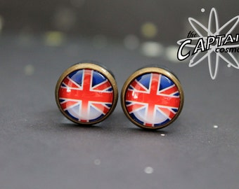 Union Jack plugs 10mm 00G gauges UK British flag geekery red blue gauges