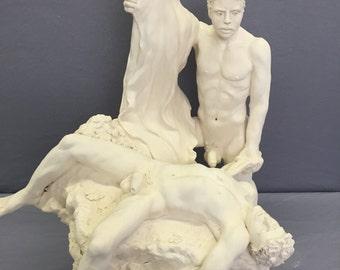 Fall of Troy Statue II / Greek Mythology Statue / Trojan War Sculpture / Paris / Helen / King Menelaus of Sparta / Hand Made by James