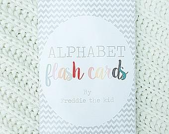 Handcrafted Baby/Children's Alphabet Flash Cards